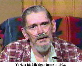 Dick York at his home in Michigan in 1992